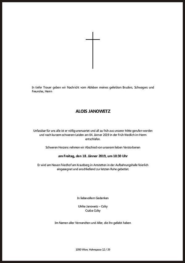 Parte von Alois Janowetz