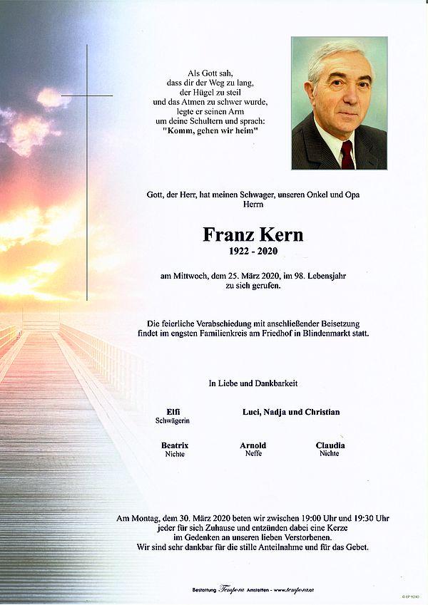 Parte von Franz Kern