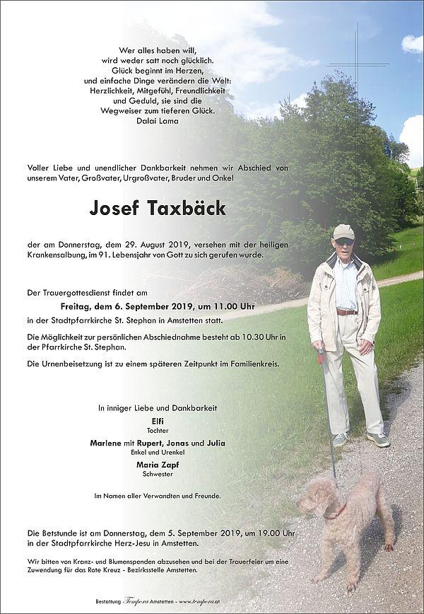 Parte von Josef Taxbäck