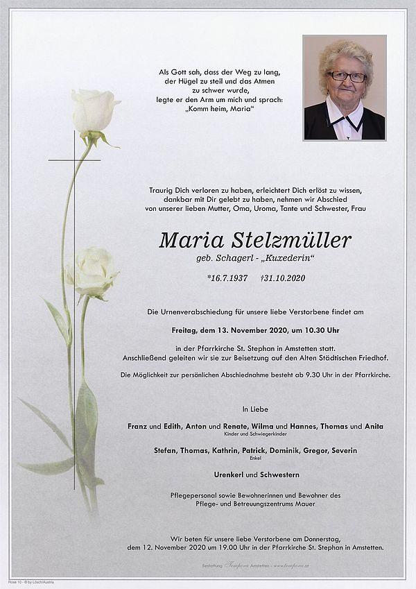 Parte von Maria Stelzmüller