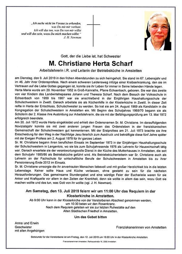 Parte von SR M. Christiane Herta Scharf