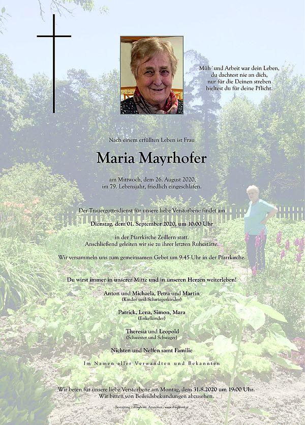 Parte von Maria Mayrhofer