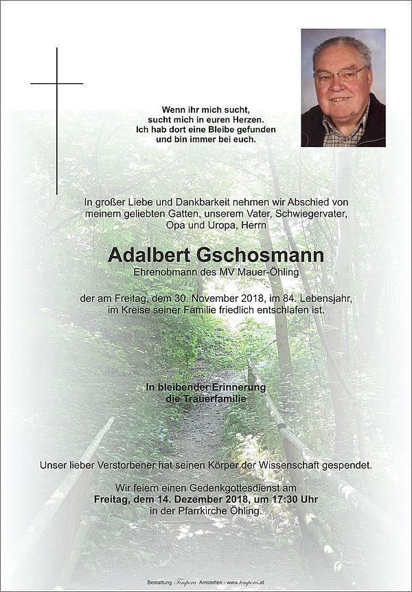 Parte von Adalbert Gschosmann