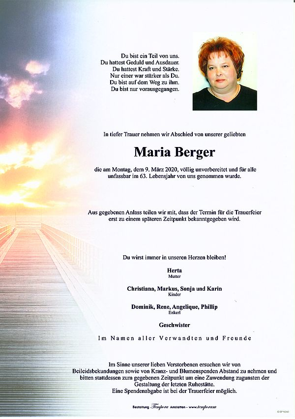 Parte von Maria Berger