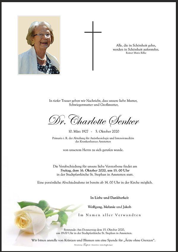 Parte von Dr. Charlotte Senker
