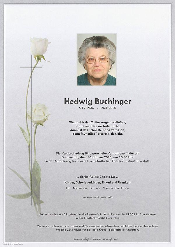 Parte von Hedwig Buchinger
