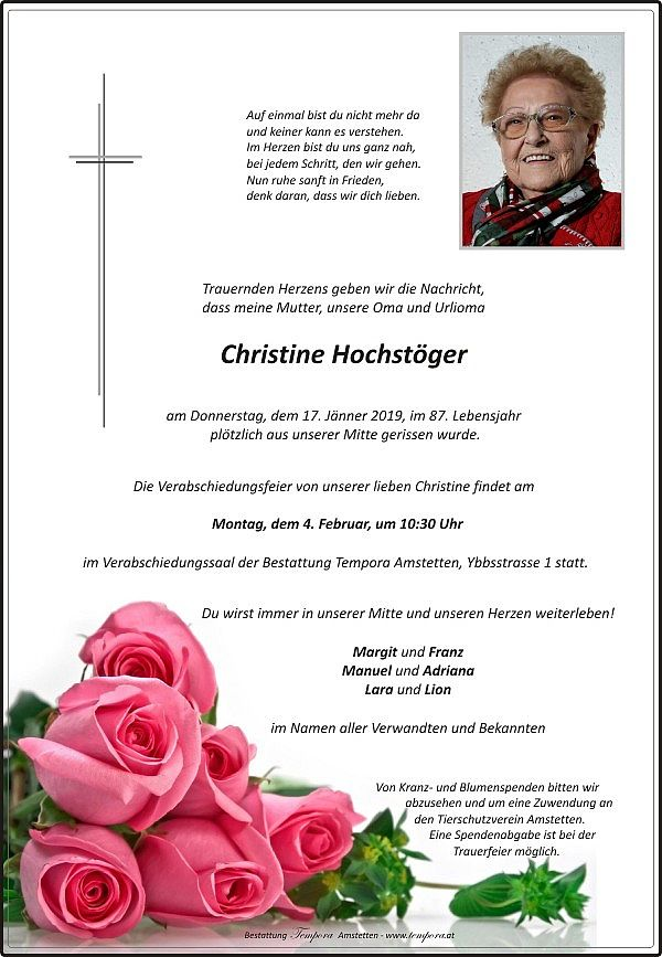 Parte von Christine Hochstöger