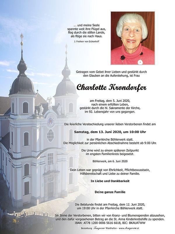Parte von Charlotte Krondorfer