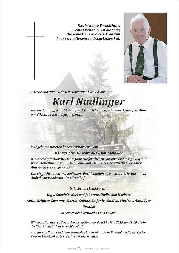 Parte von Karl Nadlinger