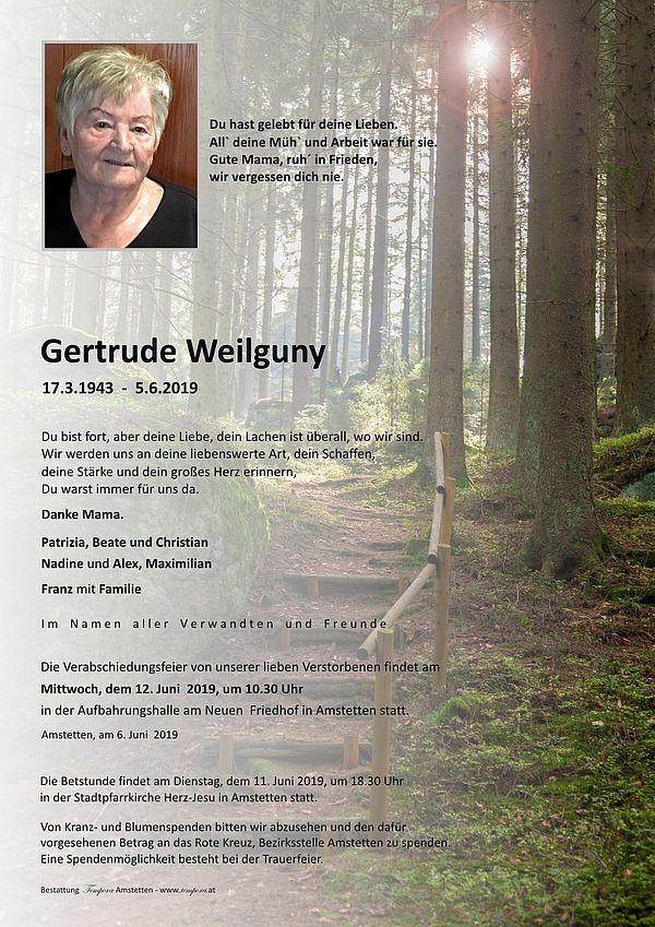 Parte von Gertrude Weilguny