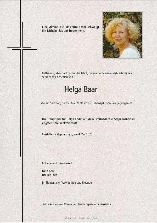 Parte von Helga Baar