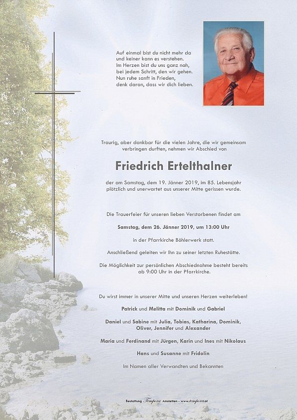 Parte von Friedrich Ertelthalner