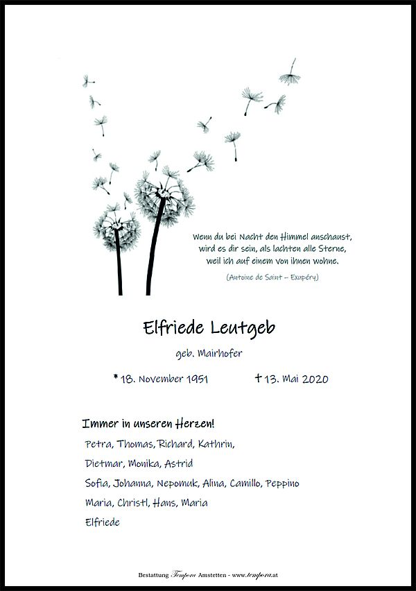 Parte von Elfriede Leutgeb