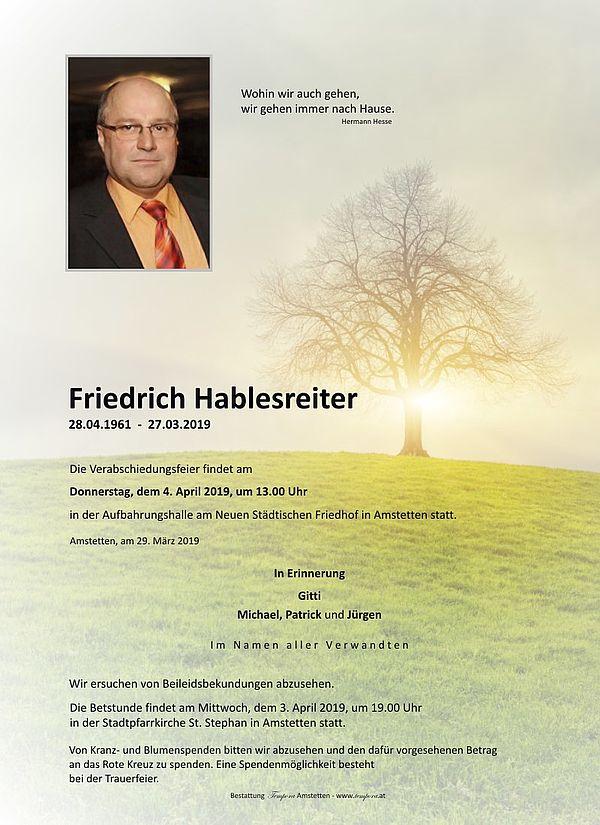 Parte von Friedrich Hablesreiter