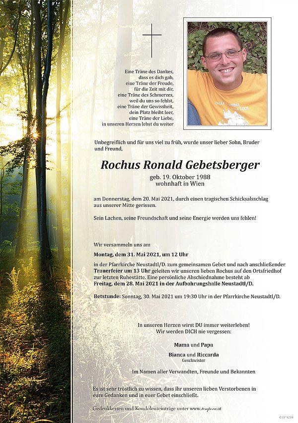 Parte von Rochus Gebetsberger