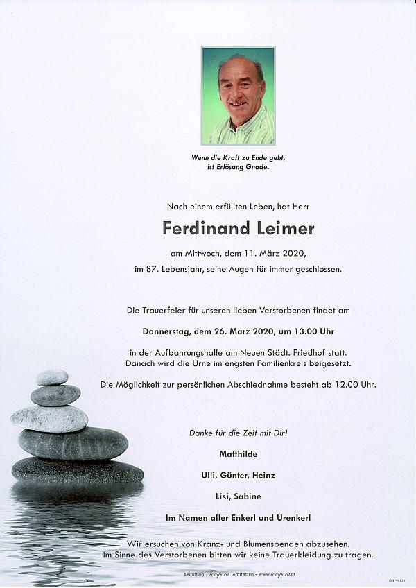 Parte von Ferdinand Leimer