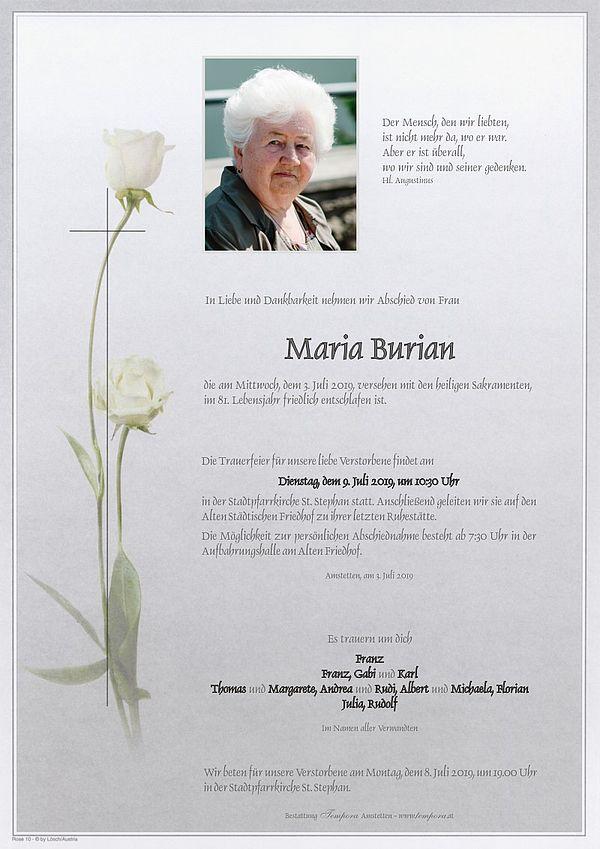 Parte von Maria Burian