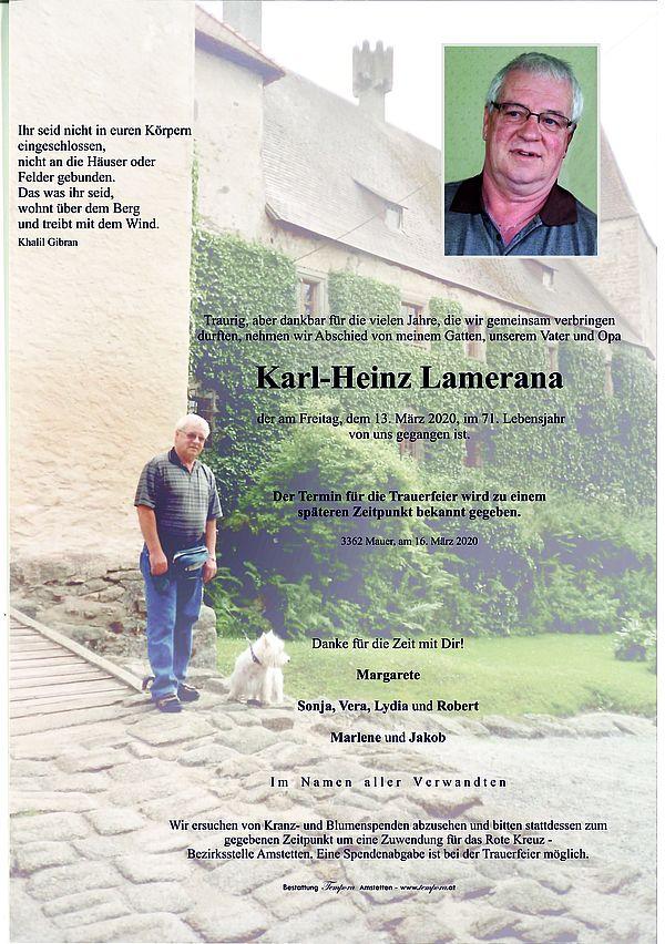 Parte von Karl-Heinz Lamerana