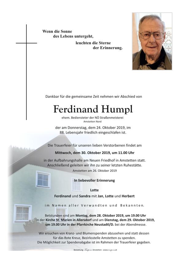 Parte von Ferdinand Humpl