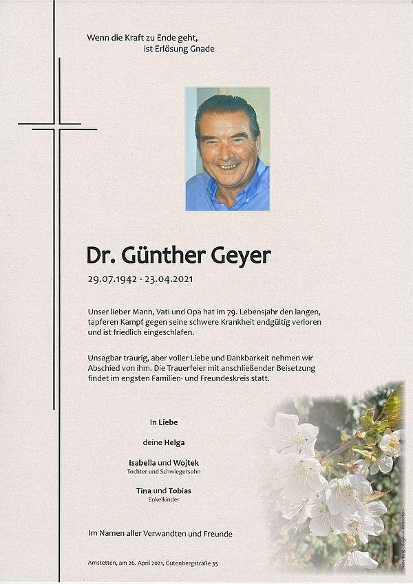 Parte von Dr. Günther Geyer