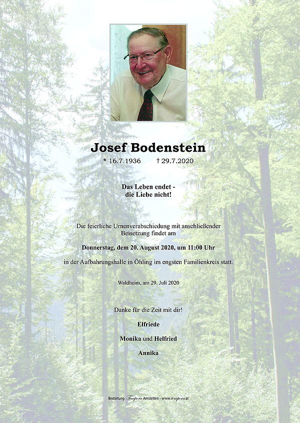 Parte von Josef Bodenstein