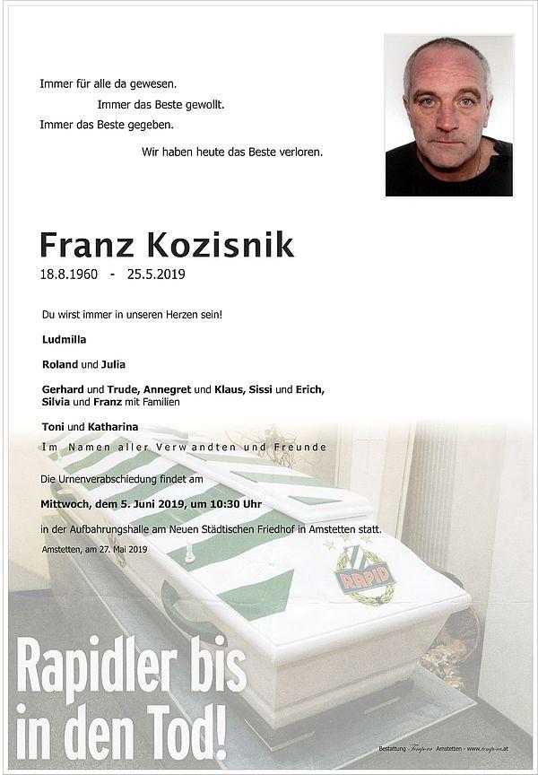 Parte von Franz Kozisnik
