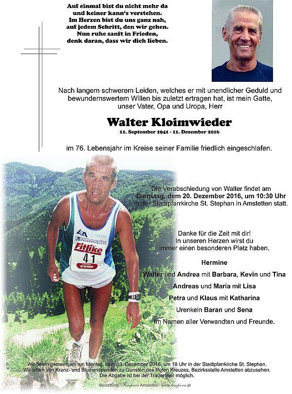 Parte von Walter Kloimwieder