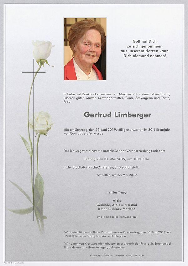 Parte von Gertrud Limberger