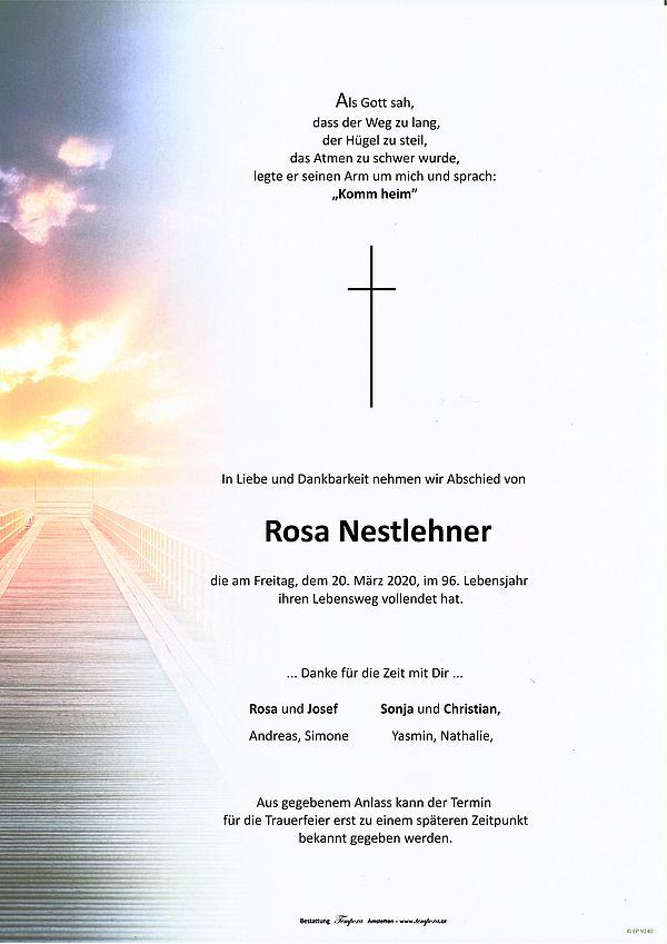 Parte von Rosa Nestlehner