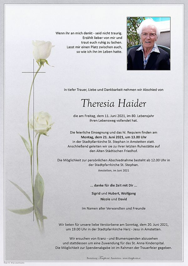 Parte von Theresia Haider