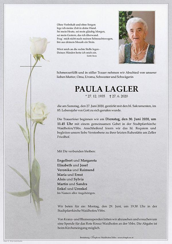 Parte von Paula Lagler