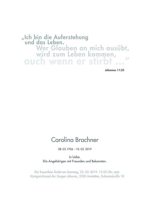 Parte von Carolina Brachner