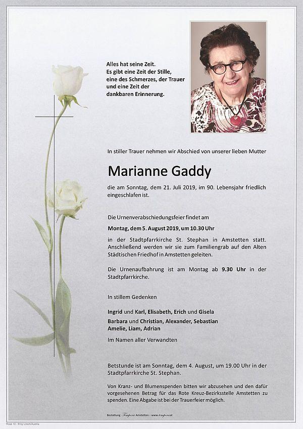 Parte von Marianne Gaddy