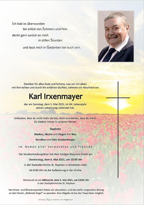 Parte von Karl Irxenmayer