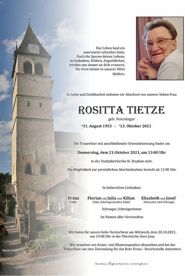 Parte von Rositta Tietze