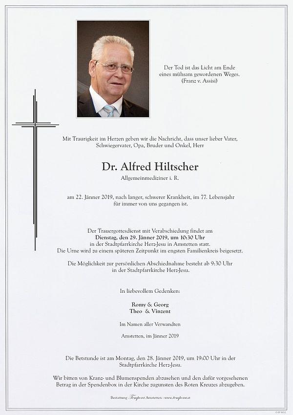 Parte von Dr. Alfred Hiltscher