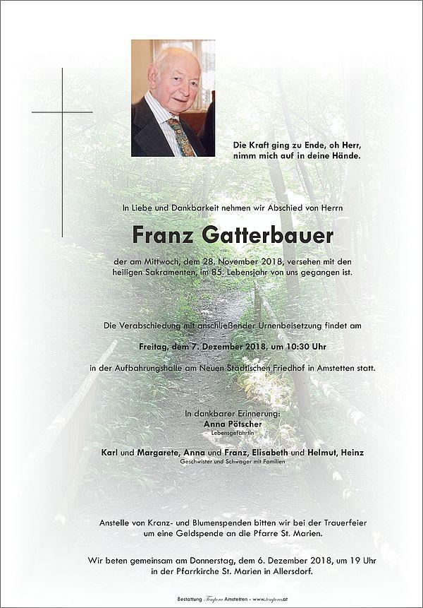 Parte von Franz Gatterbauer