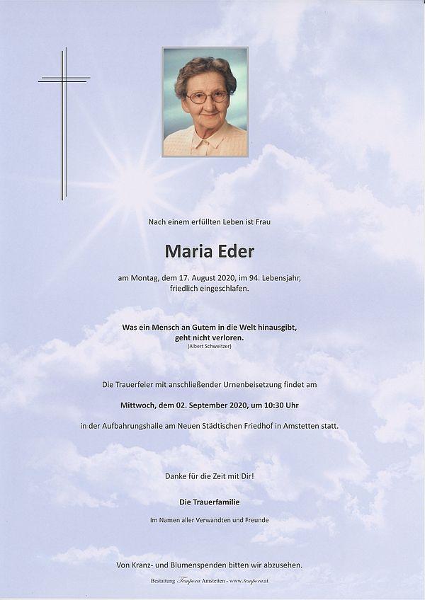 Parte von Maria Eder