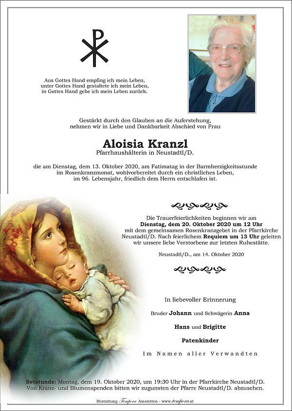 Parte von Aloisia Kranzl