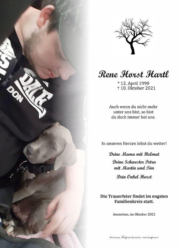 Parte von Rene Horst Hartl