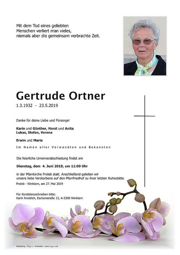 Parte von Gertrude Ortner