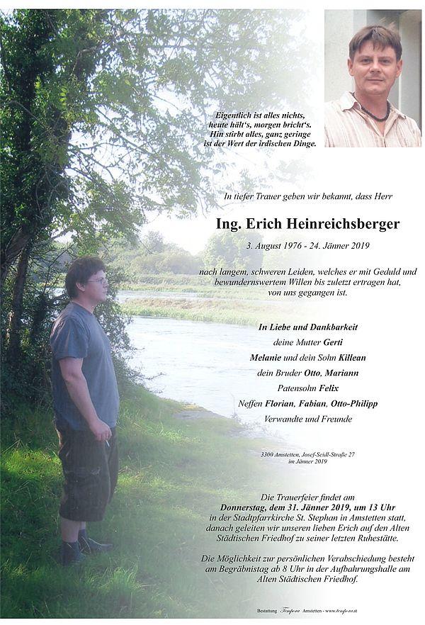 Parte von Ing. Erich Heinreichsberger