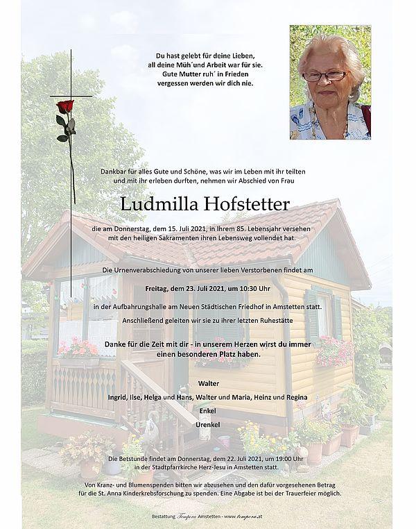 Parte von Ludmilla Hofstetter