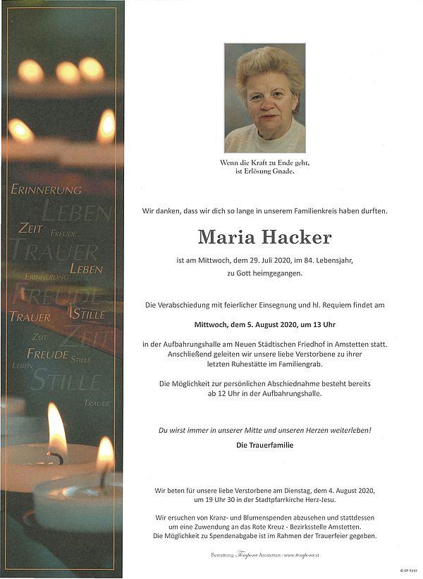 Parte von Maria Hacker