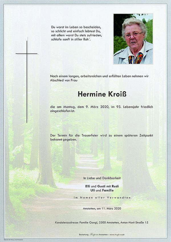 Parte von Hermine Kroiß