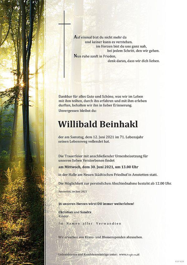 Parte von Willibald Beinhakl