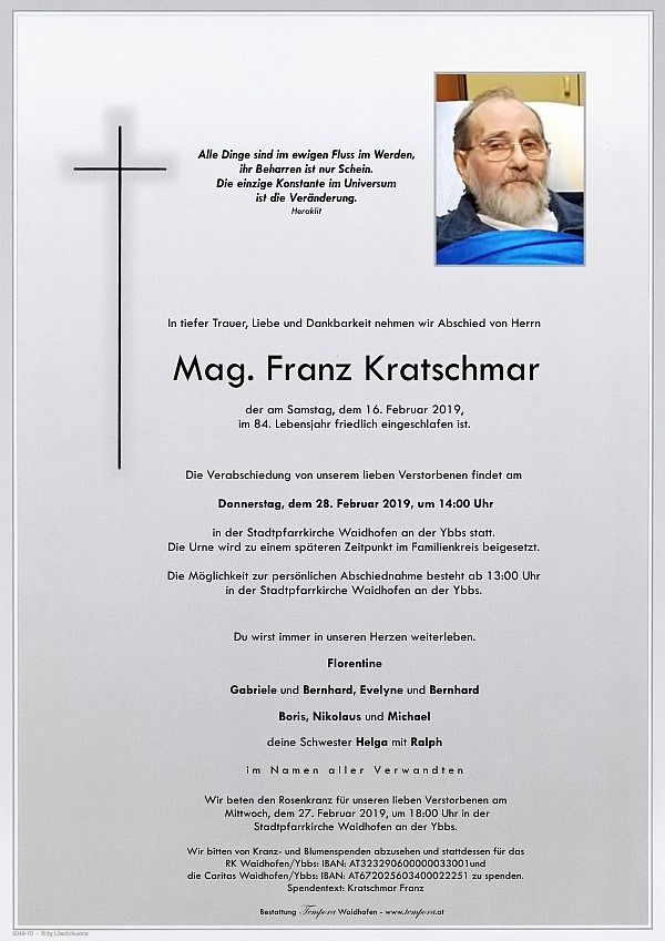 Parte von Mag. Franz Kratschmar