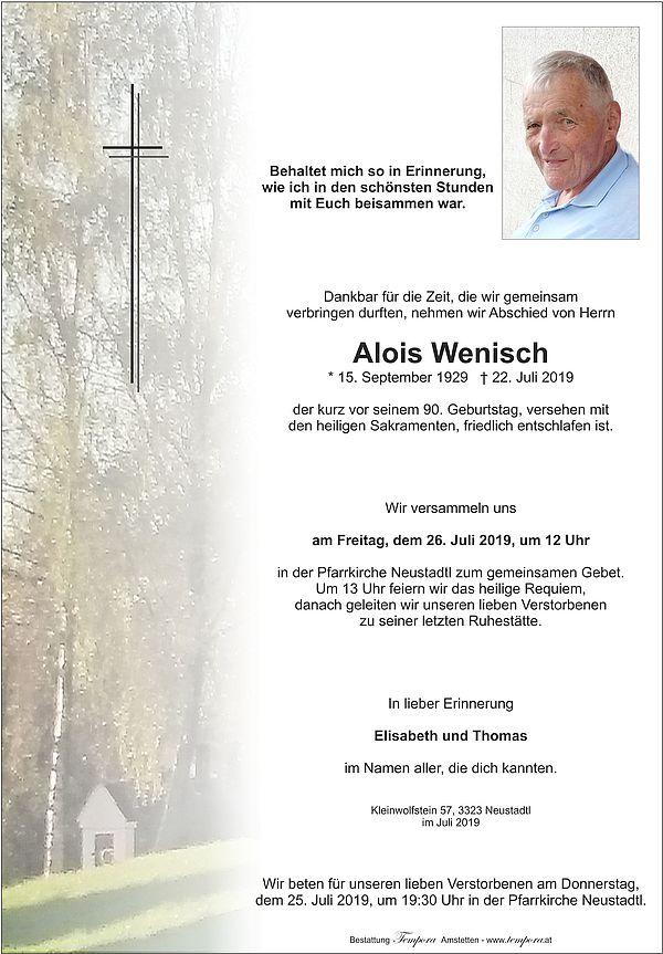 Parte von Alois Wenisch