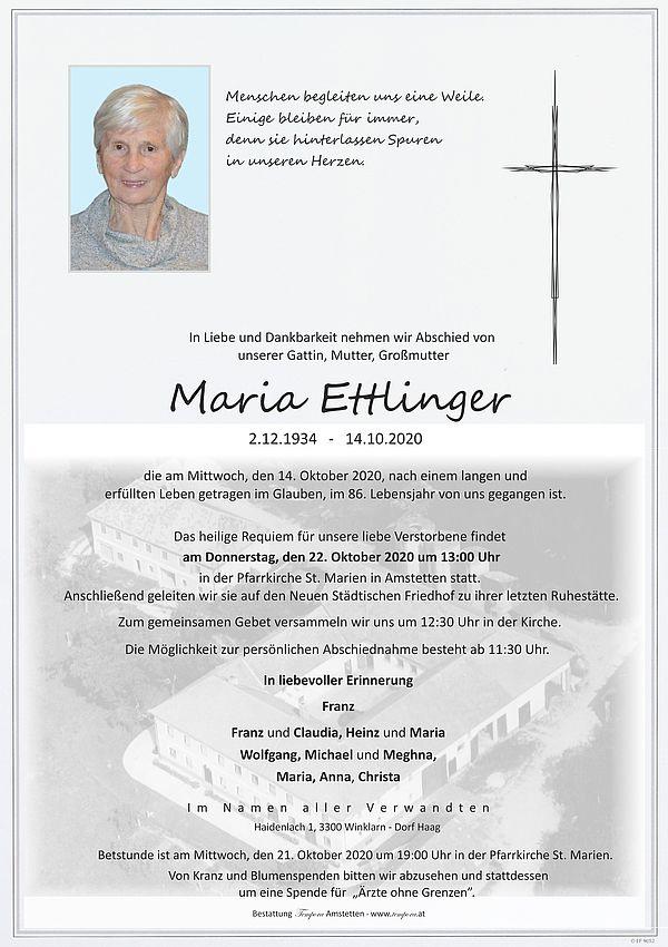 Parte von Maria Ettlinger