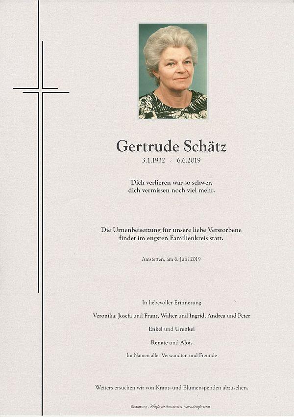 Parte von Gertrude Schätz